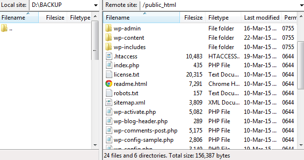 backup-site-filezilla