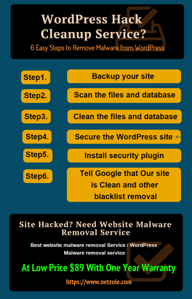 Wordpress Hack Cleanup Infographic