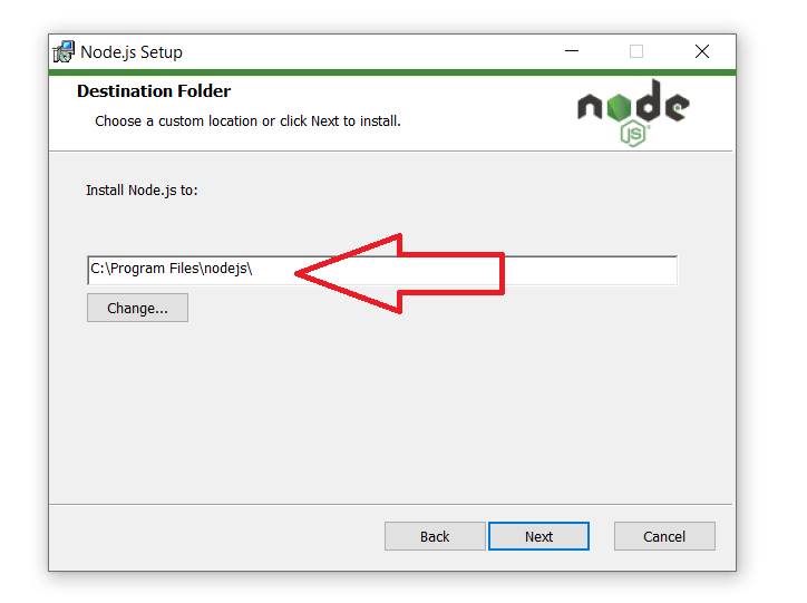 Install nodejs on windows steps