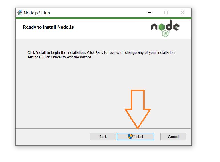 Install nodejs windows