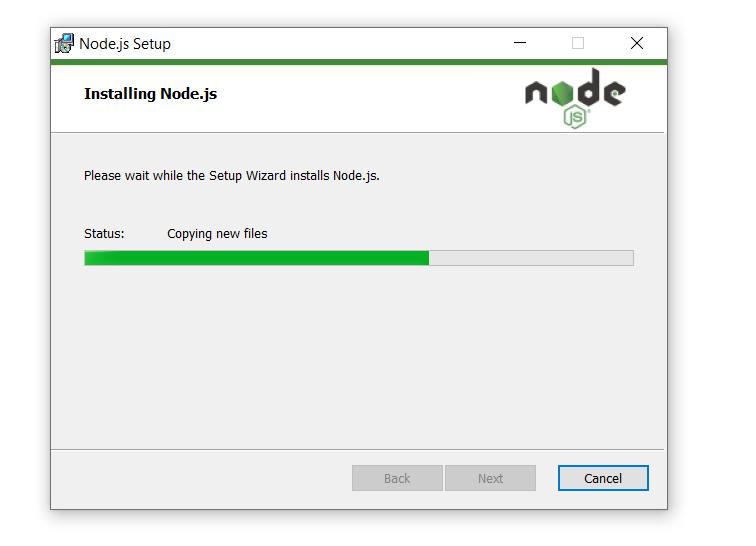 Install nodejs on windows step 7