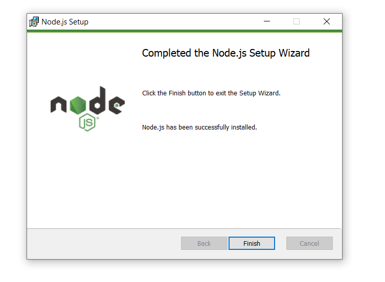 Install Node.js on Windows last step